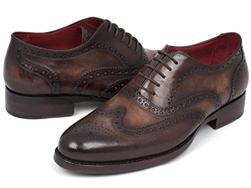 Paul Parkman Uomini Wingtip Oxford Goodyear Welting Tabacco (id # 027)