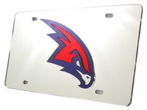 Rico Industries NBA Atlanta Hawks Laser Inlaid Metal License Plate Tag, Silver
