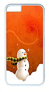 ACESR Christmas Snowman iPhone 6 Hard Shell Case Polycarbonate Plastics Custom Case for Apple iPhone 6(4.7 inch) White