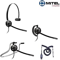 Mitel Compatible Plantronics EncorePro 540 HW540 Headsets Bundle for Mitel 50xx 51xx 52xx 53xx 55xx 85xx 8600