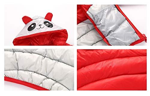 4 red Girl Fairy red Coat Size Baby Boys Winter Panda Jacket Warm Cartoon Snowsuit Outwear 5T Little Bgq4f