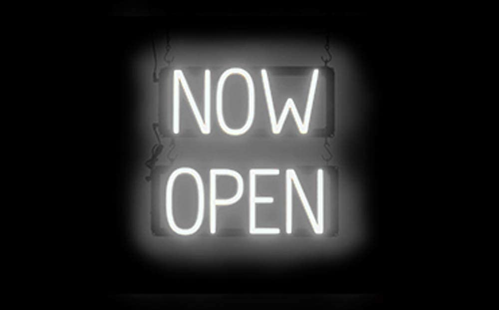 Neon Look, LED Performance SpellBrite Ultra-Bright Now Open Sign Neon-LED Sign