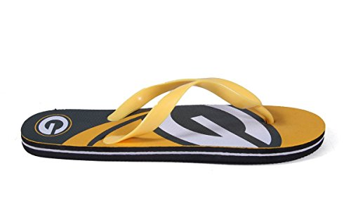Forever Collectibles Happy Feet Mens and Womens Officially Licensed Big Logo Flip Flops Green Bay Packers HLw56giK
