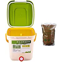 SNOWINSPRING 12L Kitchen Garden Contenedores de Basura de Alimentos Contenedor de Compostaje Reciclar Compostador…