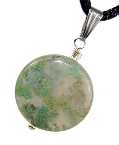 Moss Agate Pendant Necklace - 9