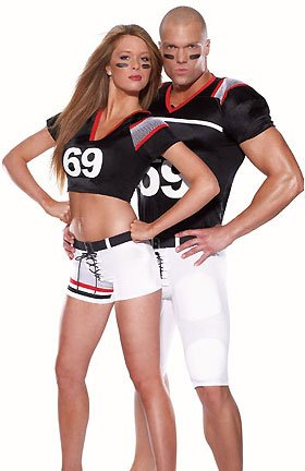 Mens White Black And Red American Football Costume Fancy Dress Stag Do Outfit Party Ml