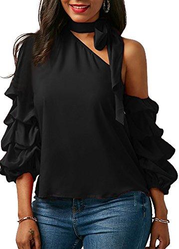 one shoulder black tie dresses - 6
