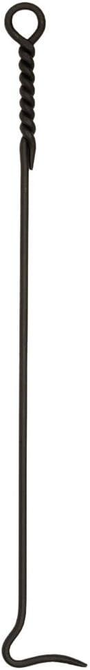 Minuteman International Rope Handle Single, Long, Tongs Poker Fireplace Tool, Extra 36-in, Black