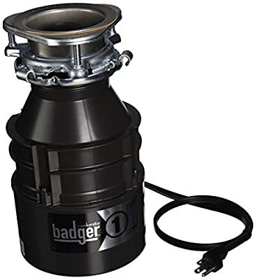 Insinkerator BADGER1CORD Household Food Waste Disposer with Cord, 1/3 Horsepower, Grey