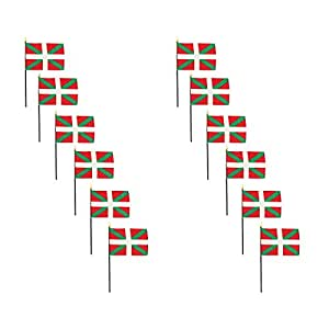 Basque Lands 4 x 6 Inch Stick Flag - 12 PK