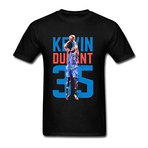 USTJC Men's Kevin Durant Oklahoma City Thunder #35 T Shirt L (Motorcycle T-shirt Thunder)