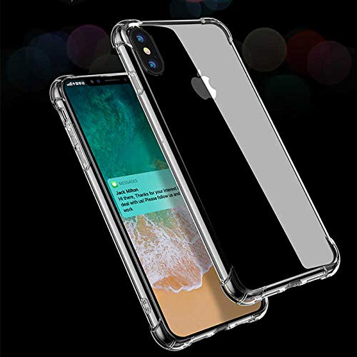 factory authentic e2564 fb994 iPhone XS Max Case, Baseus Anti-Knock Phone Case Compatible for iPhone XS  Max Soft TPU Silicone Cover Protective Back Case(Transparent)