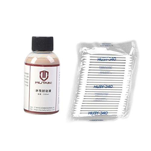 - WUTA Italy Import Vegetable Tanned Leather Edge Sealing Edge Finishes Transparent Edge Treatment Agent Handmade DIY Craft 100ml,with Cotton Swab