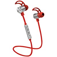 Pom Gear Pro2Go One Wireless Bluetooth 4.1 Noise-Cancelling Earbuds (Red)