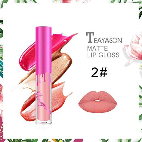 Creazy Womens Beauty Waterproof Long Lasting Lip Liquid Matte Lipstick Lip Gloss Makeup (B)