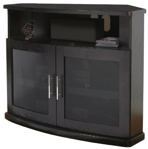 Plateau Newport 40 B Corner Wood TV Stand, 40-Inch, Black Oak ()