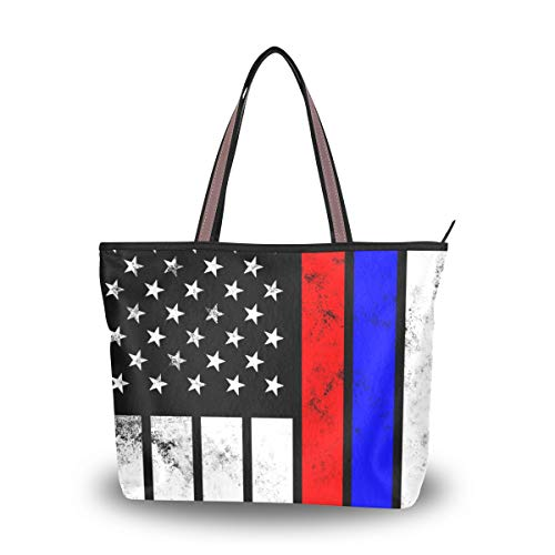 Tote Bag With Distressed Russia Flag Print Shoulder Bag Handbag