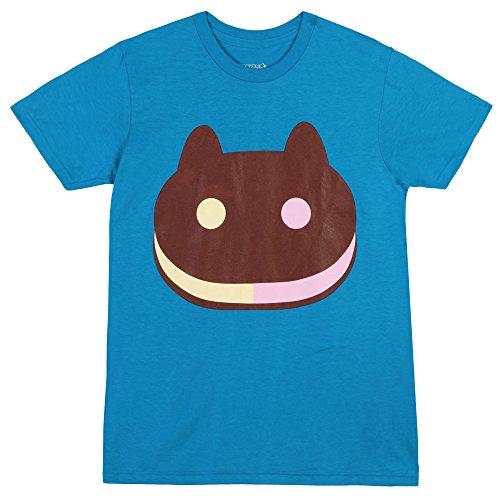 Steven Universe Cookie Cat T-Shirt - Blue (Large)