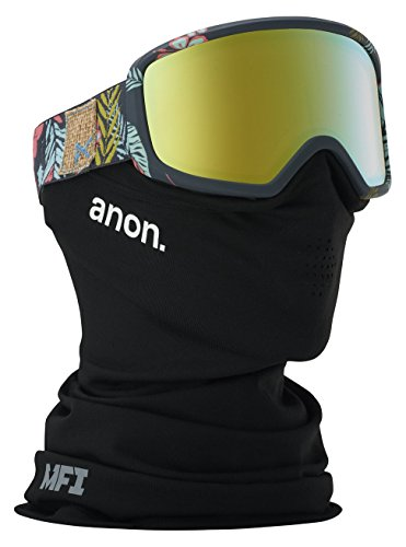 - Anon Women's Deringer Asian Fit Goggle with MFI Mask, Tiki Frame Gold Chrome Lens W18