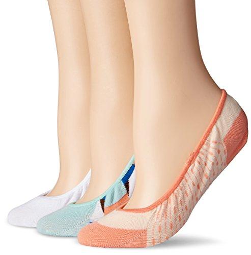 Keds Women's 3 Pack Print Liner, Eggshell Blue Assorted, Shoe 4-10 (Sock Size: 9-11) -