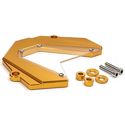 CNC Aluminum Billet Aluminum CNC Front Chain Sprocket Cover for YAMAHA MT-09 MT09 FZ09 FZ-09 2013-2017 (Gold)