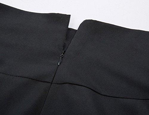 Femmes Taille Buste t et en Automne Latrale OMUUTR Retro Gris Taille M Fourche Option Jupe Couleur Plisse Sangle Nouvelle Multi de Ouverte Haute Jupe 86adwdq