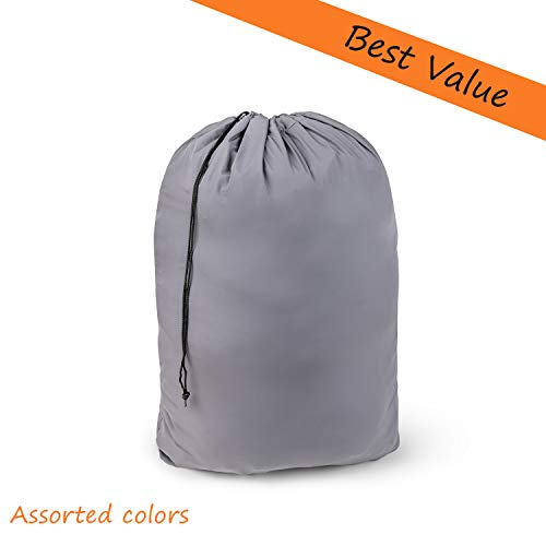 """Large Nylon Laundry Bag 30"""" x 40"""" Rip and Tear Resistant Material with Drawstring Closure - Assorted Colors and Patterns (2)"""