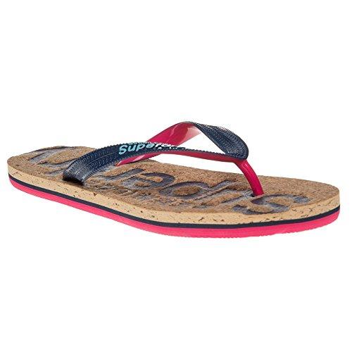Superdry Cork Flip Flop Donna Sandalo Blu