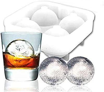ICE Balls Maker Round Sphere Tray Mold Cube Whiskey Ball Cocktails Silicone Tool
