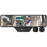 Condor® Dual X Full HD 1080p Dash cam and DVR, 2 swivel cameras on rearview mirror. Split screen display, 16gb card and storage case included. 12 FT long cable for easy hide away.