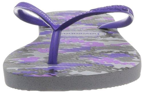 Havaianas Slim Camuflada Damen Zehentrenner Violett - Hellgrau