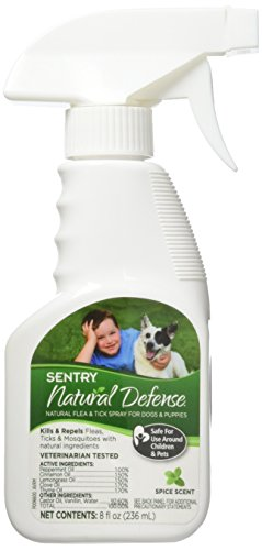 SENTRY Natural Defense Natural Flea and Tick Spray for Dogs and Puppies, 8 oz