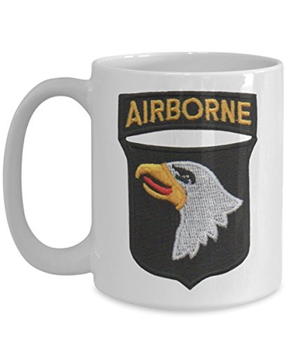 101st AIRBORNE Division (Air Assault) Military Coffee Cup -15oz - Air Assault Wings -