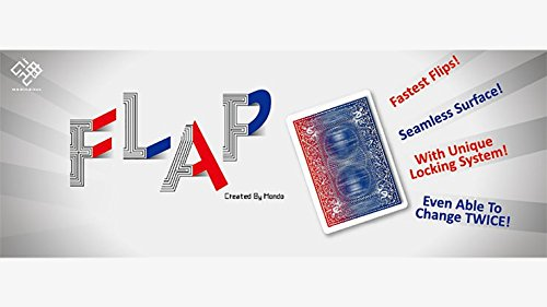 Modern Flap Card (Red to Blue Face Card) by Hondo by MJM