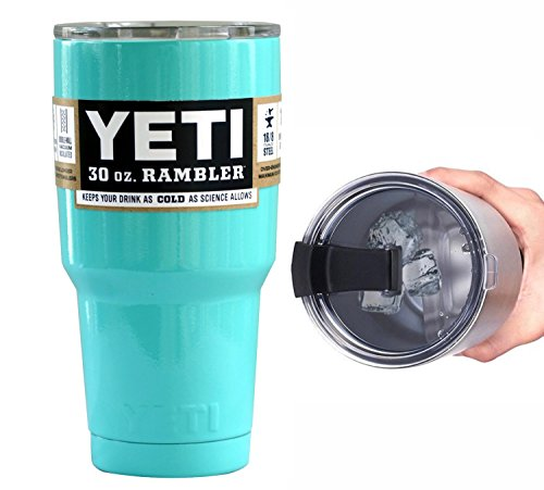 Yeti Coolers 30 oz Rambler Tumbler with Exclusive Spill Resistant Lid (Seafoam)