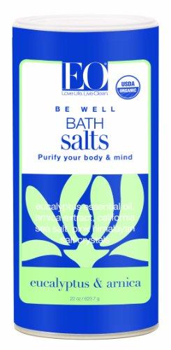 EO Organic Bath Salts Be Well, Eucalyptus and Arnica, 22-Ounce