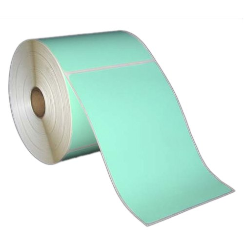 4x6 Inch Direct Thermal Paper Labels - Green - Rolls - 5