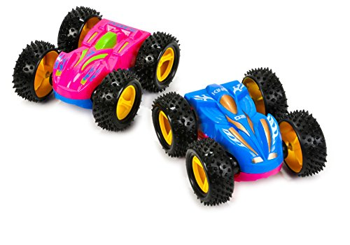 2 Friction Rev Em Up Toy Racing Flip Cars Set Costume Accessory (Racing Driver Costume)