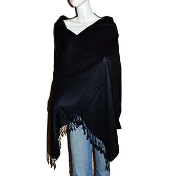 SCARF_TRADINGINC® Twill Pashmina / Shawl / Wrap / Stole (Black)