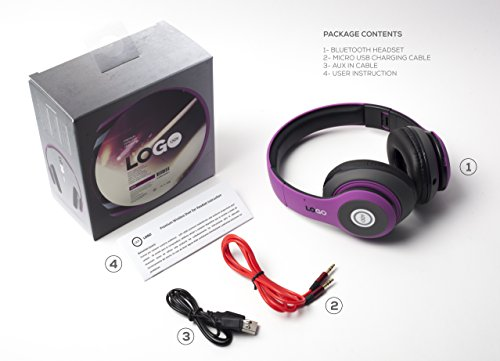 iJoy Matte Rechargeable Wireless Bluetooth Foldable Over Ear Headphones with Mic, EDM by iJoy (Image #5)