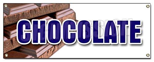 Chocolate Banner Sign Milk Dark semi Sweet Homemade Candy Belgium Sale