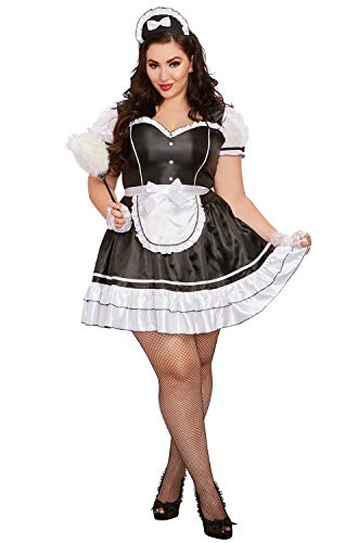 Dreamgirl Women's Plus Size Keep It Clean, Costume, 3X