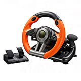 Gaming Racing Steering Wheel and Pedals, Support PC/PS3/PS4/XBOX-ONE, Compatible with Multiple Platforms, You