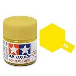 Tamiya Models X-8 Mini Acrylic Paint, Lemon Yellow by MMD Holdings, LLC