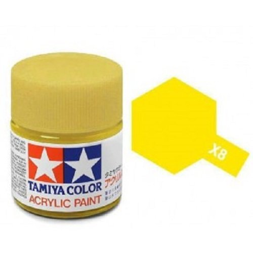 Tamiya Models X-8 Mini Acrylic Paint, Lemon Yellow