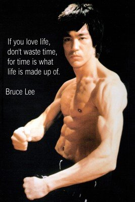 Bruce Lee Motivational Quotes Poster Paper Print(12 inch X 18 inch, Rolled)