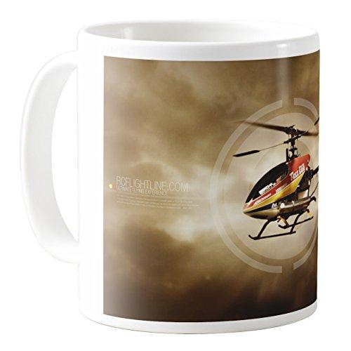 AquaSakura - CM11Z-B34145 - 11oz Ceramic Coffee Mug Tea - T-rex Heli