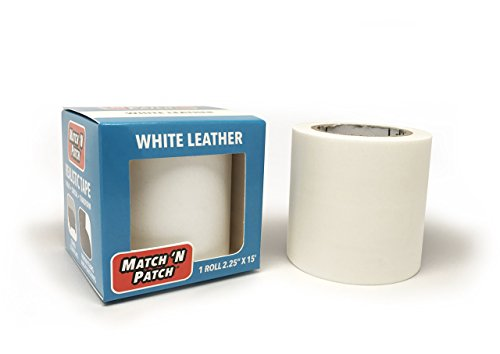 Match N Patch Realistic White Leather Repair - 15' Patch Red