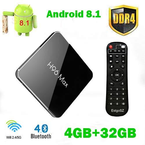 EstgoSZ Android 8.1 TV Box H96 Max X2 4GB DDR4 Ram 32GB ROM Smart 4K TV Box Amlogic S905X2 Support HDMI 2.1 H265 VP9…
