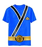 Power Rangers SAMURAI Ranger BLUE Uniform Monster Toddler T-shirt (Toddler Large 7T)